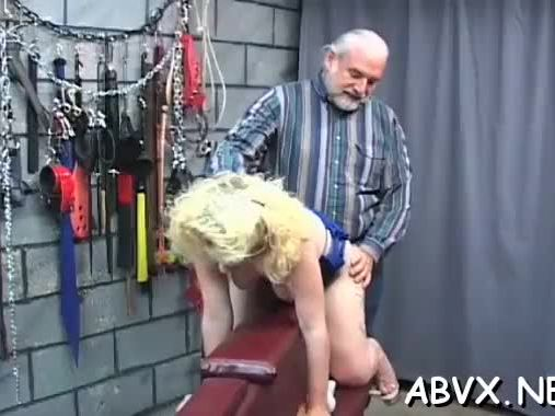 Naked doll excellent fetish bondage sex scenes with aged man