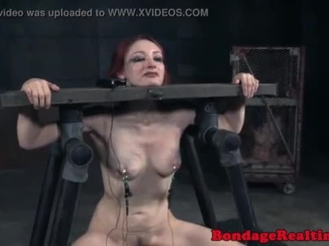 Redhead sub punished with the sybian