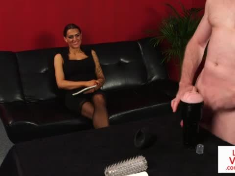 Tattooed british beauty instructing sub guy