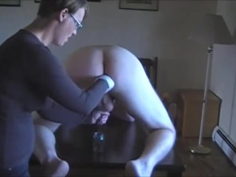 Geeky girl wants to collect cum for experiment prostate milking